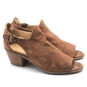 Lucky brand Barimo open toe bootie size 9 tan